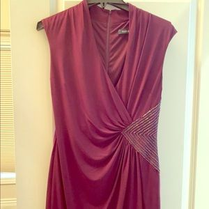 Stunning Wine colored cocktail dress